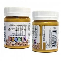 Краска акриловая металлик, золото инка, 50 мл., Decola