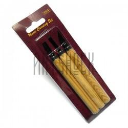 Инструменты (стамески, резцы, ножи) для резьбы по дереву 3 штуки, CONDA