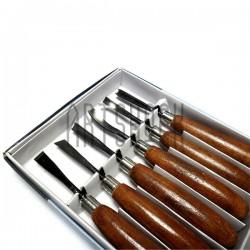Набор резцов профессиональных по дереву, 6 штук, Woodcut Knife