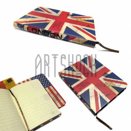 """Блокнот """"Флаг GREAT BRITAIN"""" 104 х 139 мм., 80 листов, YASAC"""