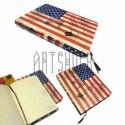 """Блокнот """"Флаг USA"""" 104 х 139 мм., 80 листов, YASAC"""