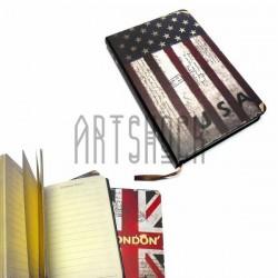 """Блокнот """"Флаг USA Винтаж"""" 94 х 145 мм., 96 листов, YASAC"""