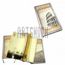 """Блокнот """"Амфитеатр Колизей"""" красный торец, 96 х 172 мм., 120 листов, YASAC"""
