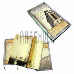 "Блокнот ""Храм Артемиды"" зелёный торец, 96 х 172 мм., 120 листов, YASAC"