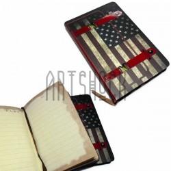 """Блокнот """"Флаг США с лямками"""", 90 х 140 мм., 96 листов, YASAC"""