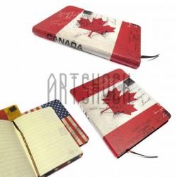 """Блокнот """"Флаг CANADA"""" 140 х 210 мм., 80 листов, YASAC"""