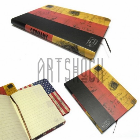"Блокнот ""Флаг GERMANY"" 140 х 210 мм., 80 листов, YASAC"