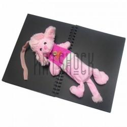 """Плюшевая  игрушка - пенал """"Розовая овечка в футболке BABY"""" с петелькой"""