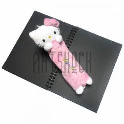 """Плюшевая  игрушка - пенал """"Hello Kitty"""" розовая, с петелькой, Sanrio"""