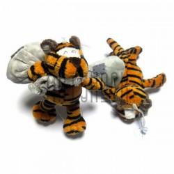 """Мягкая игрушка """"Тигр с мешком"""" темный на присоске, NICI"""