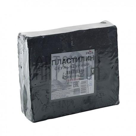 """Пластилин скульптурный, оливковый """"Лицей"""" (твёрдый), 0.5 кг, Гамма"""