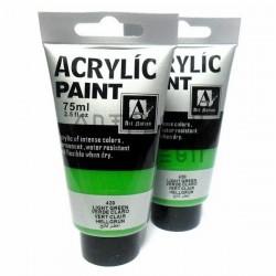 Краски акриловые художественные, Зеленый Яркий / Light Green, 75 мл., Art Nation