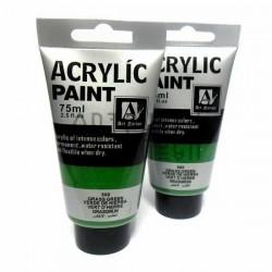 Краски акриловые художественные, Зеленый Травяной / Grass Green, 75 мл., Art Nation