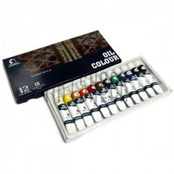 Набор художественных масляных красок, 12 цветов по 12 мл., Martol