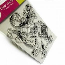 """Штампы для скрапбукинга (силиконовые штампы), набор """"Жар птица"""", 9.5 х 14.5 см."""