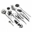 """Штампы для скрапбукинга (силиконовые штампы), набор """"Полевые цветы"""", 15 х 20.5 см."""