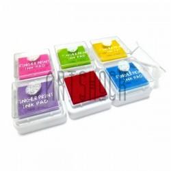 """Набор штемпельных подушек """"Радуга"""" для штампинга, скрапбукинга и создания открыток, 6 цветов"""