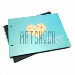 Альбомы для фотографий скрапбукинг Dream Land, голубой 21.5 х 15.5 см.