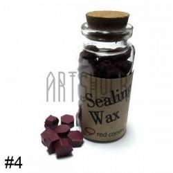 Сургуч декоративный бордовый для печатей в таблетках, 60 - 70 штук
