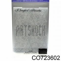 """Папка для тиснения эмбоссинг для скрапбукинга A Songbird`s Poinsettia"""", размер 10.5 х 14.3 см., Couture Creations"""""""