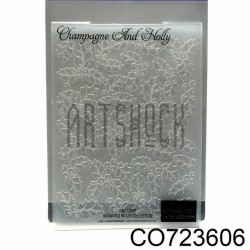 "Папка для тиснения эмбоссинг для скрапбукинга Champagne And Holly"", размер 10.5 х 14.3 см., Couture Creations"""
