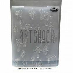 """Папка для тиснения эмбоссинг для скрапбукинга Tall Trees"""", размер 10.5 х 14.3 см., El Taller De Veronica"""""""