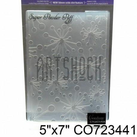 """Папка для тиснения эмбоссинг для скрапбукинга Super Powder Puff"""", размер 11.8 х 17.5 см., Couture Creations"""""""