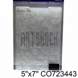 """Папка для тиснения эмбоссинг для скрапбукинга Extra Flint"""", размер 11.8 х 17.5 см., Couture Creations"""""""