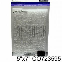 """Папка для тиснения эмбоссинг для скрапбукинга Jolly Christmas"""", размер 11.8 х 17.5 см., Couture Creations"""""""