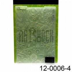 """Папка для тиснения эмбоссинг для скрапбукинга Bouquet"""", размер 11.8 х 17.5 см., Couture Creations"""""""