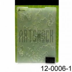 """Папка для тиснения эмбоссинг для скрапбукинга Serene"""", размер 11.8 х 17.5 см., Couture Creations"""""""