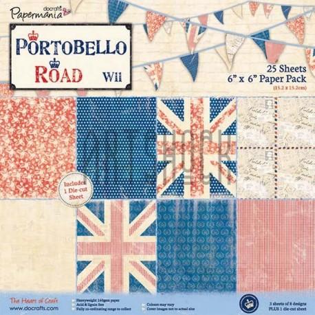 """Набор бумаги для скрапбукинга """"Британский флаг Portobello Road"""", Docrafts"""