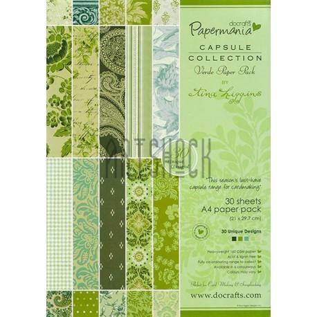 "Набор бумаги для скрапбукинга ""Verde Paper Pack by Lina Liggins"", Papermania"