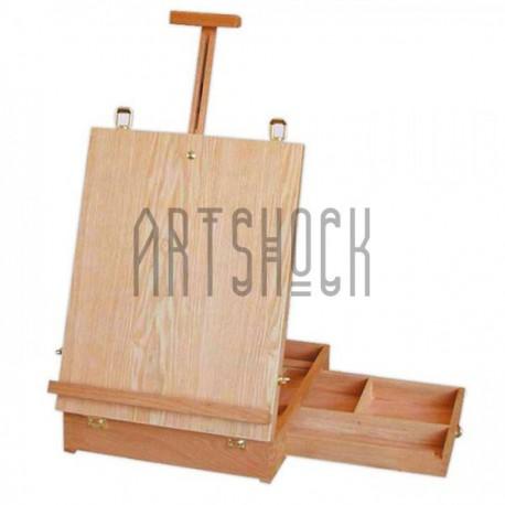 Мольберт - этюдник настольный с палитрой без ножек, размер 44 x 33 x 10 см., CONDA   Мольберты, этюдники и палитры