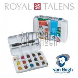 Набор художественных акварельных красок, 12 + 3 цвета + кисть, Van Gogh, Royal Talens