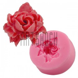 Силиконовый молд 3D (вайнер), роза, размер 4 х 4 см., толщина 1.7 см., REGINA