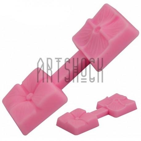 Силиконовый молд 3D (вайнер), клевер, размер 7 х 2.5 см., толщина 0.8 см., REGINA