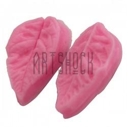 Силиконовый молд 3D (вайнер), лист розы 2 части, размер 3 х 5 см., толщина 2 см., REGINA