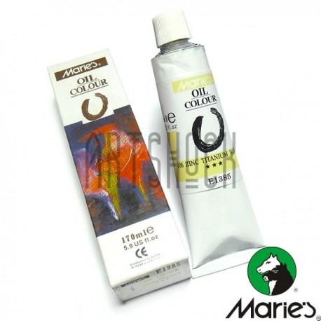 Краска художественная масляная, белила цинко-титановые, 106, туба 170 мл., Maries