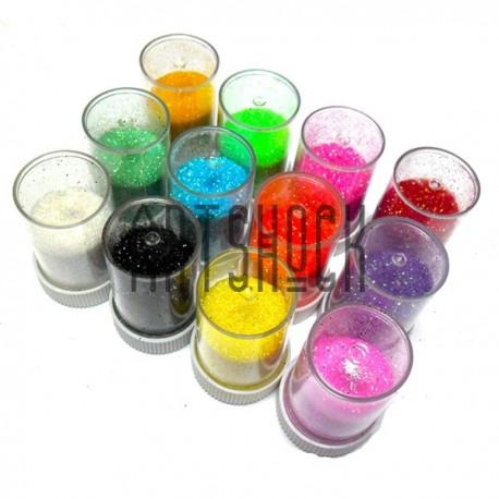 Набор блесток сухих мелких (глиттера), пастельно-неоновые цвета, 7 грамм