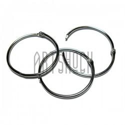 Набор колец металлических для переплета (скрапбукинга), разъёмных, ∅55 мм., 3 штуки, REGINA