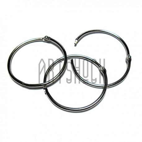 Набор колец металлических для переплета, разъёмных, диаметр 55 мм., 3 штуки