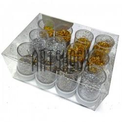 Набор блесток сухих (глиттера), 6 золотых, 3 серебра, 3 ассорти, 7 грамм