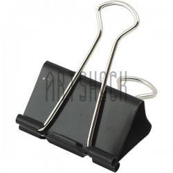Биндеры черные, металлический зажим для бумаги, 32 мм., 12 шт.