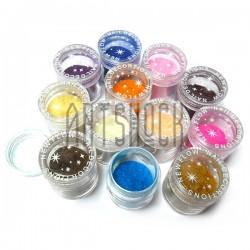 Набор флок - пудры бархатной для декора, 7 грамм, 12 цветов