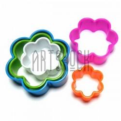 """Набор детских пластиковых каттеров (резаков) для полимерной глины и пластилина, 5 шт., """"Цветок"""""""