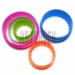 """Набор детских пластиковых каттеров (резаков) для полимерной глины и пластилина, 5 шт., """"Круг"""""""