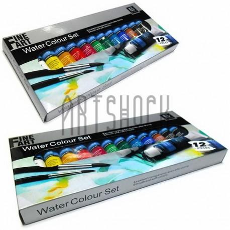 Набор художественных акварельных красок, 12 цветов по 12 мл., Art Nation