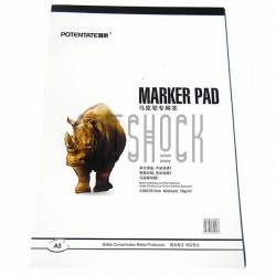 Альбом для маркеров MARKER PAD А3, 70 гр./м², 40 листов, склейка, Superior