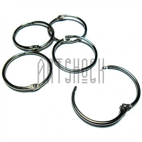 Набор колец металлических для переплета (скрапбукинга), разъёмных, ∅33 мм., 5 штук